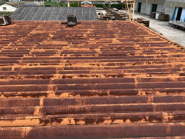 塩害の屋根