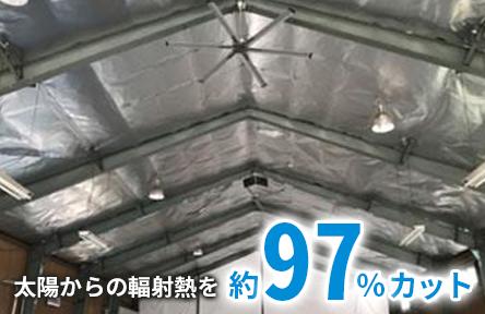 太陽からの輻射熱を約97%カット