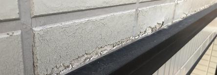 外壁のひび割れコーキング剤の劣化