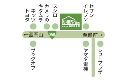 東岡山無人展示場 MAP