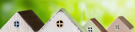 家の模型 屋根